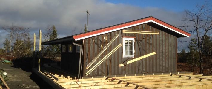 Totalombygging hytte
