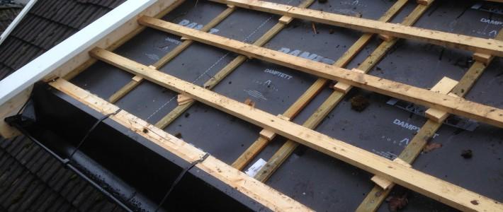 Råteskader, utbedring av tak