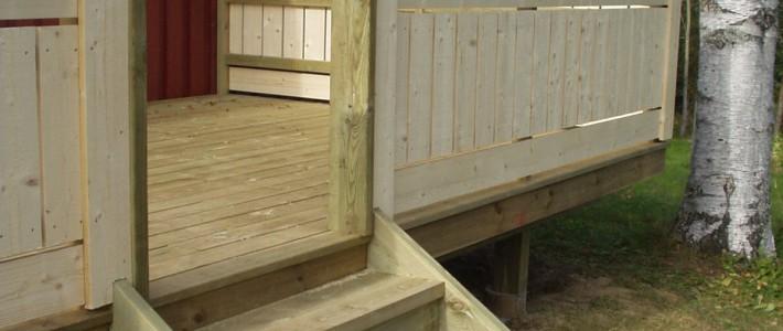 Terrasse med trapp
